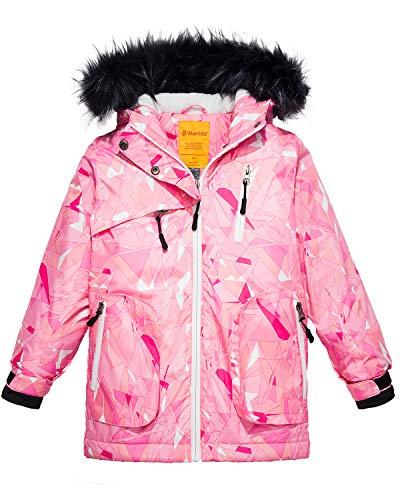 Wantdo Girls Waterproof Ski Jacket Parka Outdoor Windproof Warm Winter Coat