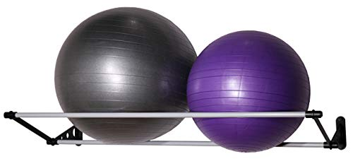 """Vita Vibe Wall Storage Rack for Exercise/Yoga/Stability Balls - for Storing Ball Sizes 25cm to 95cm (10"""" to 36"""")"""