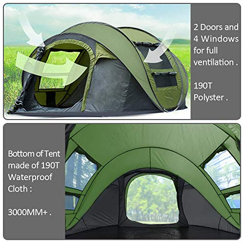 Ic Iclover Camping Tents 3 4 Person Pop Up Family Tent 2