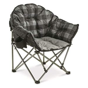 Guide Gear Oversized Club Camp Chair, 500-lb. Capacity, Gray Plaid