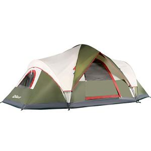 6 Person Tents for Family Camping, Quick Easy Set Up, Instant Pop Up Dome Outdoor Tent, Waterproof with Rainfly and Mesh Roofs & Door & Windows - 13.5' x 7'