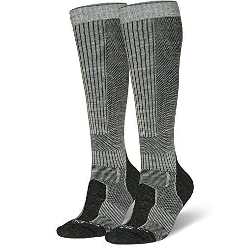 Merino Wool Long Knee-high Outdoor Boot Socks, Hiking, Trekking, Multi Performance for Men, Women Kids