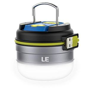 LED Camping Lantern Rechargeable, 280LM, 3 Light Modes, 3000mAh Power Bank, Waterproof, Perfect Mini Flashlight with Magnetic Base for Hurricane Emergency, Outdoor, Hiking, Home and Car by LE
