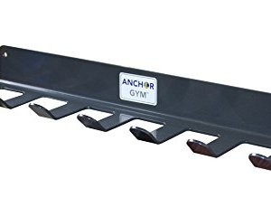 Anchor Gym R7 Seven Prong Storage Rack for Fitness Bands,Straps,Jump Ropes, Foam Rollers-(mounting Hardware Included)