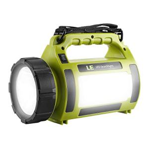 LE Rechargeable LED Camping Lantern, 1000LM, 5 Light Modes, 3600mAh Power Bank, IPX4 Waterproof, Perfect Lantern Flashlight for Hurricane Emergency, Hiking, Home and More, USB Cable Included