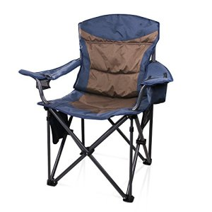 JQ&JQ Portable Camping Chair with Carry Bag and Ice Bag,Support up to 660 Ib, Blue