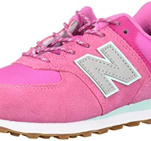 New Balance Girls 574v1 Lace-Up Sneaker, Light Carnival/, 12 F M US Toddler (1-4 Years)