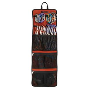 Climbing Quickdraw Hanging Storage Bag, Carabiner Hook Gear Equipment Parts Collections, Durable Foldable Bundled Roll Anti-scratch Bag, Small Tools Organizer Pouch, suit for Rock Climbing Ice Climb