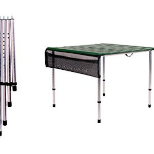 Camp Time, Roll-a-Table, Green, with Adjustable Legs