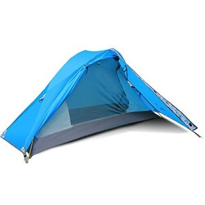 FLYTOP Single Person and Single Door Tent Outdoor 1 Man Tent for Trekking/Riding/Hiking/Camping/Waterproof (Single Person-Bule)