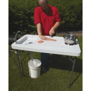 Kotulas Fish Cleaning Camp Table with Faucet