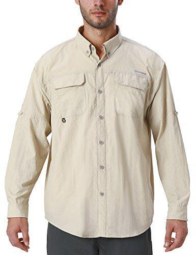 Naviskin Men's UPF 50+ Sun Protection Outdoor Long Sleeve Shirt Lightweight Quick-Dry Cooling Fishing Shirts