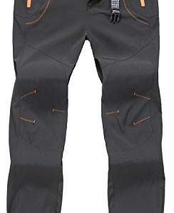 TBMPOY Men's Outdoor Quick Dry Hiking Mountain Cargo Pants Zipper Pockets