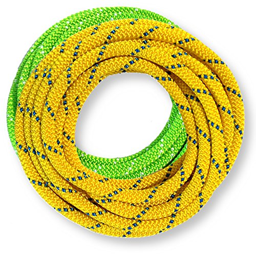 OmniProGear 8mm x 11 feet Prusik Cord Lime & 8mm x 11 feet Yellow Made in USA MBS 16.44kN (3700lbs)