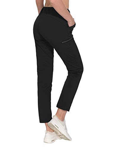 Little Donkey Andy Women's Stretch Quick Dry Lightweight Ankle Pants with Drawstring Travel Active Hiking