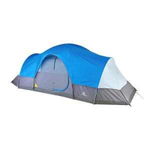 Outbound Dome Tent for Camping with Carry Bag and Rainfly | Easy Up and Water Resistant | 3 Season | 8 and 12 Person | Blue
