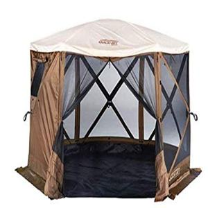 Quick Set Sky Camper Screen Shelter, Brown/Tan