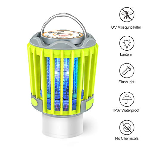 Camping Lantern Flashlight Bug Zapper 3-in-1 Portable Rechargeable Lights for Camping