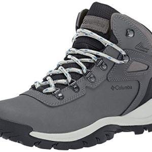 Columbia Women's Newton Ridge Plus Waterproof Hiking Boot, Quarry/Cool Wave, 8.5 Wide