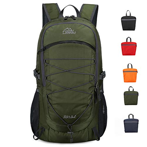 Loowoko 40L Packable Backpack Hiking Camping Unisex Daypack Lightweight Travel Backpacking Bag