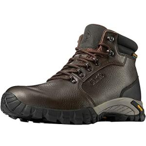 Wantdo Men's Waterproof Hiking Boots, High-Traction Grip Hiking Shoes for Outdoor Hiking Camping Trekking Brown 9.5 M US