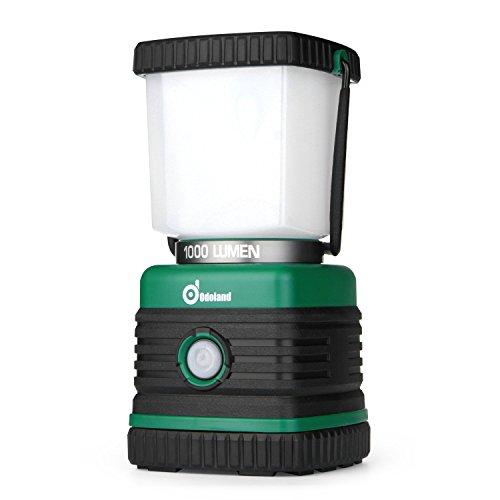 Odoland 1000 Lumen Camping Lantern, Battery Powered LED Lantern of 4 Light Modes, Waterproof Tent Flashlight, Perfect for Camping, Hiking, Hurricane, Emergency, Survival Kits