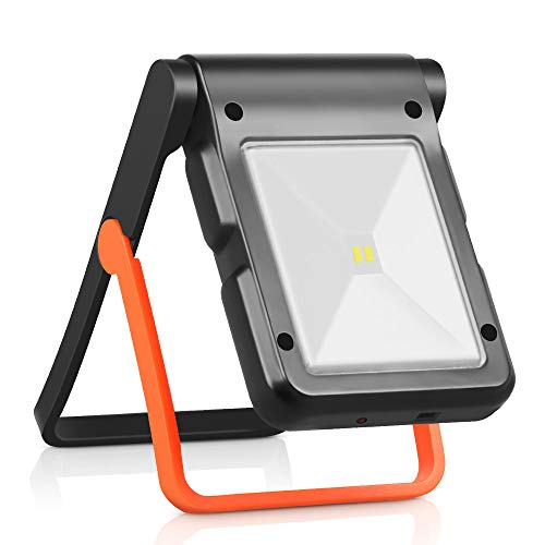 Neporal Portable LED Work Light Solar and USB Rechargeable with 2 Brightness Modes 360°Adjustable Flashlight Solar Camping Lights 550mAh 50lm Rechargeable Night Light (1ps)