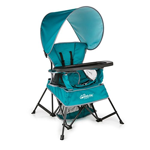 Baby Delight Go with Me Chair   Indoor/Outdoor Chair with Sun Canopy   Teal   Portable Chair converts to 3 Child Growth Stages: Sitting, Standing and Big Kid   3 Months to 75 lbs   Weather Resistant
