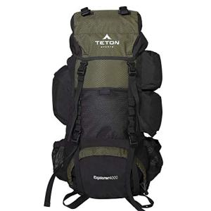 TETON Sports Explorer 4000 Internal Frame Backpack; High-Performance Backpack for Backpacking, Hiking, Camping; Hunter Green