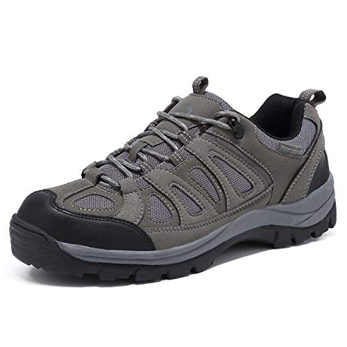 EYUSHIJIA Mens Waterproof Hiking Boot Outdoor Breathable High-Traction Grip Shoes Gray 11