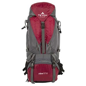 TETON Sports Hiker 3700 Ultralight Internal Frame Backpack – Not Your Basic Backpack; High-Performance Backpack for Hiking, Camping, Travel, and Outdoor Activities; Sewn-In Rain Cover; Red