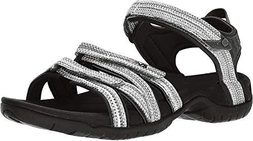 Teva Women's W Tirra Sport Sandal, Black/White Multi, 11 M US