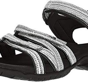 Teva Women's W Tirra Sport Sandal, Black/White Multi, 11 M US
