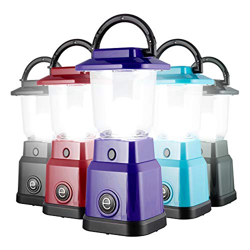 Enbrighten LED Mini Camping Lantern, Battery Powered, 200 Lumens, 40 Hour Runtime, 3 Light Levels, Ideal for Hiking, Outdoors, Emergency, Snow, Hurricane and Storm, Purple, 49562