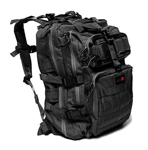 24BattlePack Tactical Backpack | 3 Day Assault Pack | 40L Bug Out Bag | Combat Veteran Owned Company (Black)