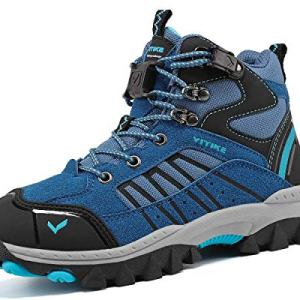 Kids Hiking Boots Boys Girls Outdoor Walking Climbing Sneaker Comfortable Non-Slip Snow Shoes Hiker Boot Antiskid Steel Buckle Sole