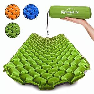 POWERLIX Sleeping Pad – Ultralight Inflatable Sleeping Mat, Ultimate for Camping, Backpacking, Hiking – Airpad, Inflating Bag, Carry Bag, Repair Kit – Compact and Lightweight Air Mattress