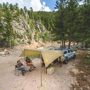 Slumberjack SJK Roadhouse Tarp, Hunting Camping & Overland Shelter Protects from Rain & Sun, Khaki