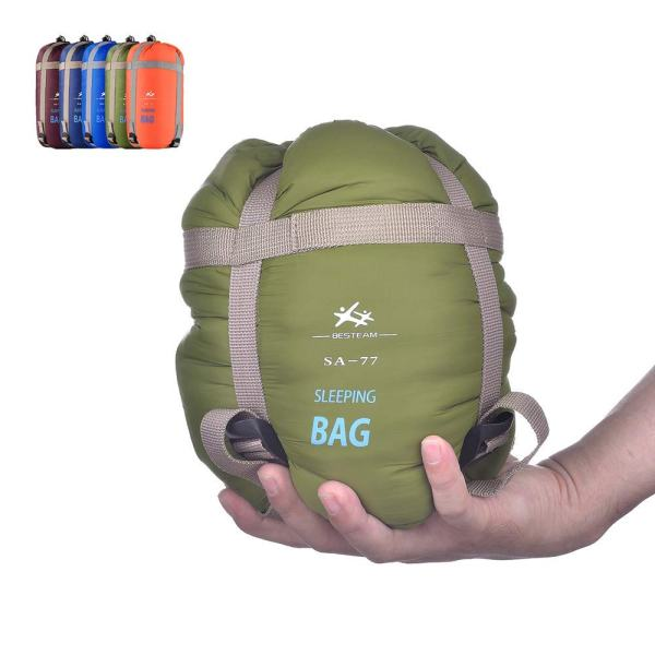 """BESTEAM Ultra-light Warm Weather Envelope Sleeping Bag, 75""""L x 30""""W, Outdoor Camping, Backpacking & Hiking - Fit for Kids, Teens and Adults - Spring, Summer & Fall - Waterproof & Compact (Army Green)"""
