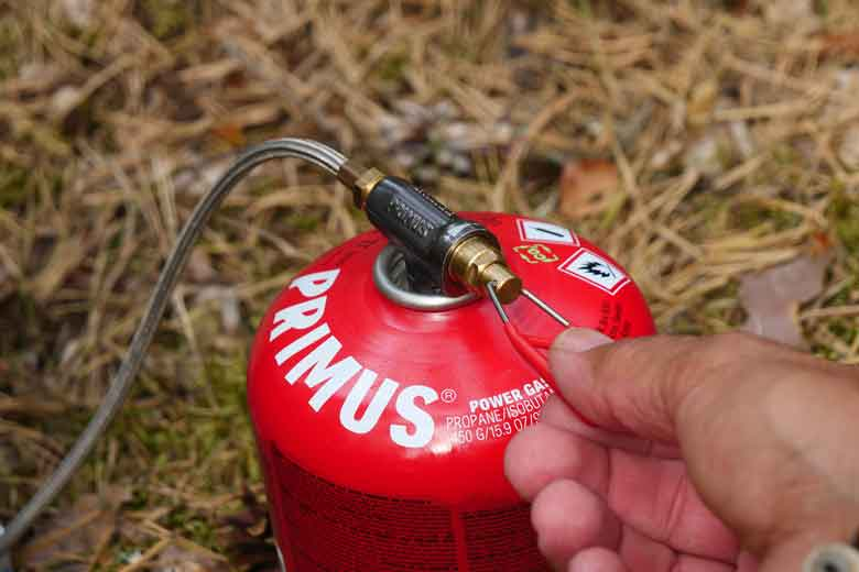 De drukregelaar van de Primus PrimeTech Stove Set 2.3 L is prima, maar de vlamregeling vergt te veel draaien.