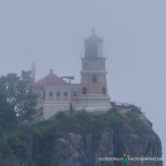 Split Rock Lighthouse in fog