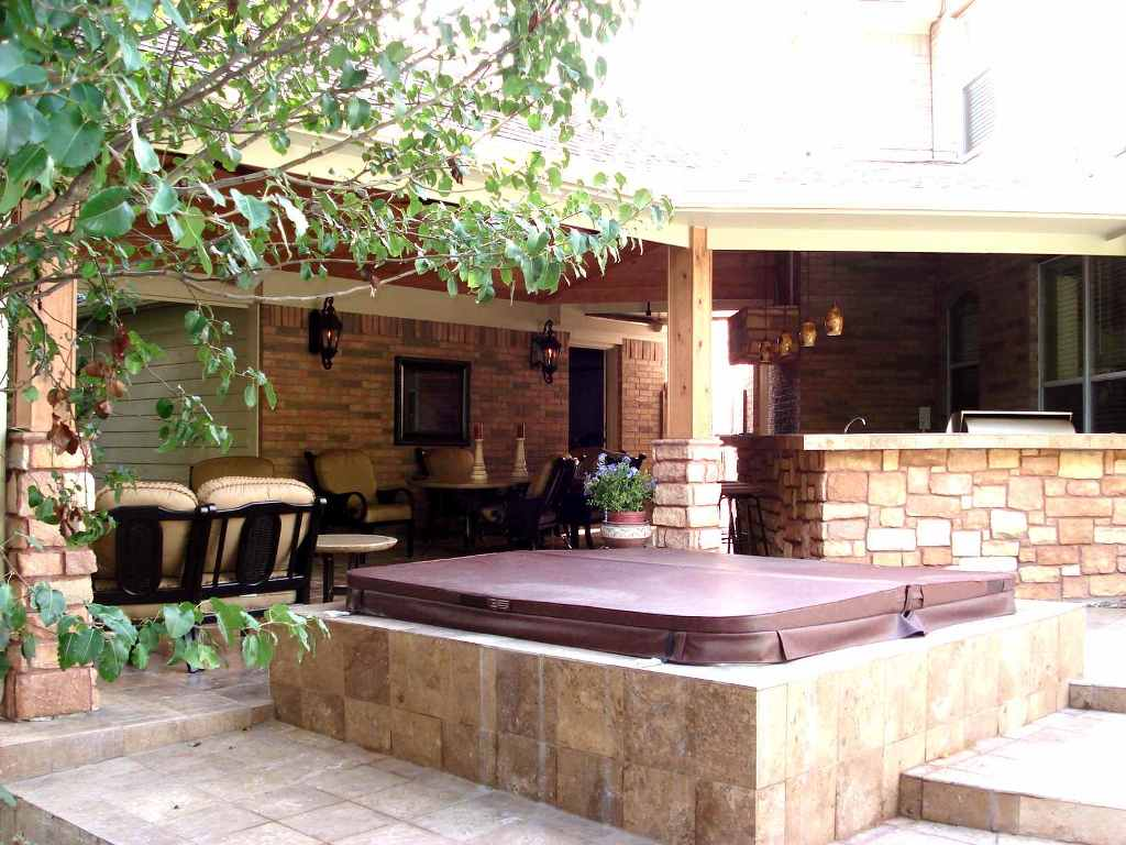 Houston Outdoor Living Spaces - Fire Pit And Spa! on Outdoor Living Spa id=74274