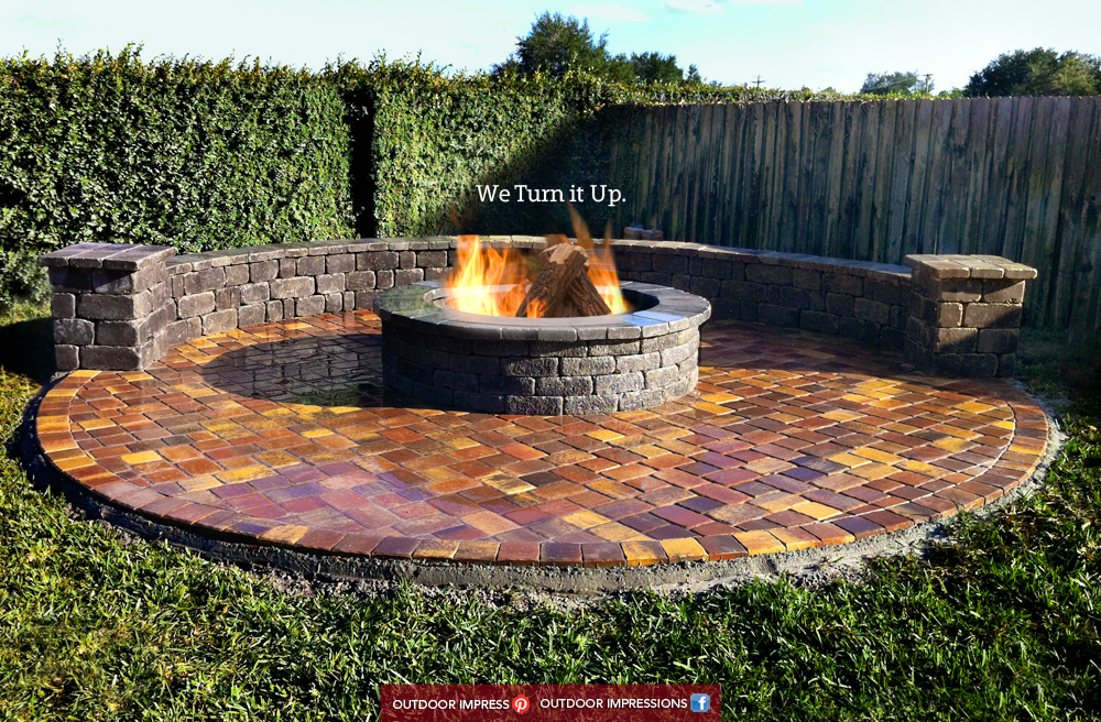 patio | Outdoor Impressions …it all starts with DESIGN on Pavers Patio With Fire Pit id=96405