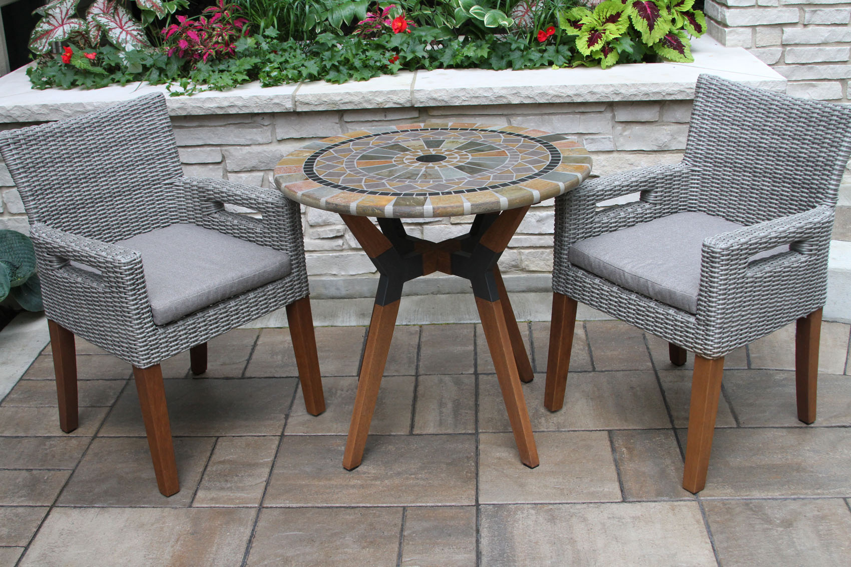 sandstone mosaic bistro table top with