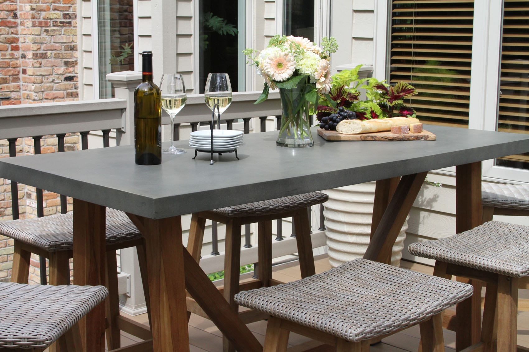 composite counter height dining table