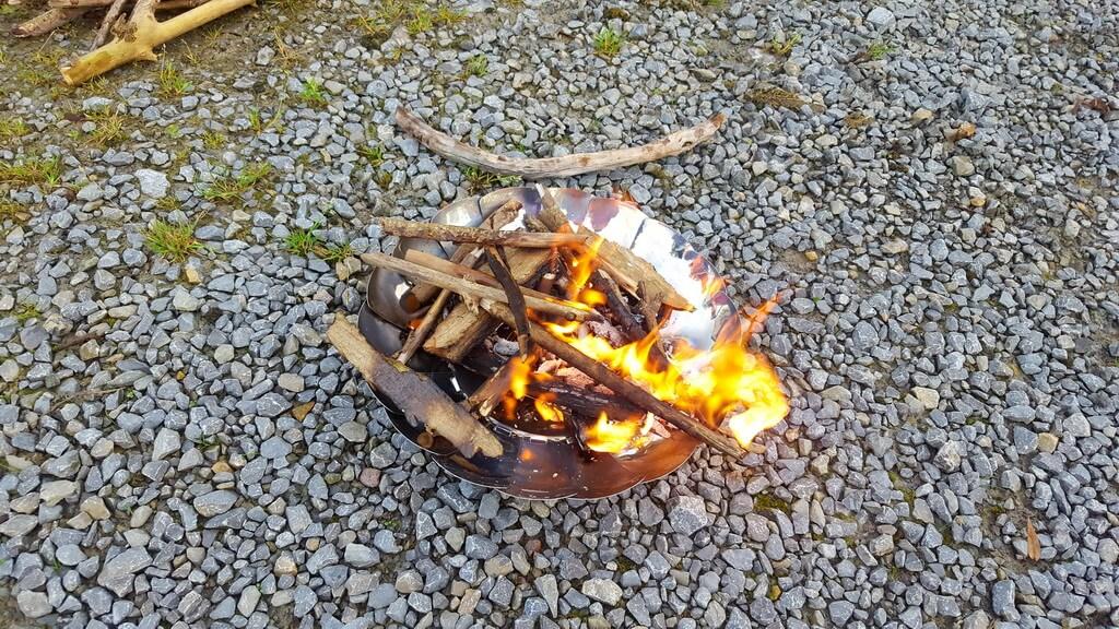 Feuerschale faltbar