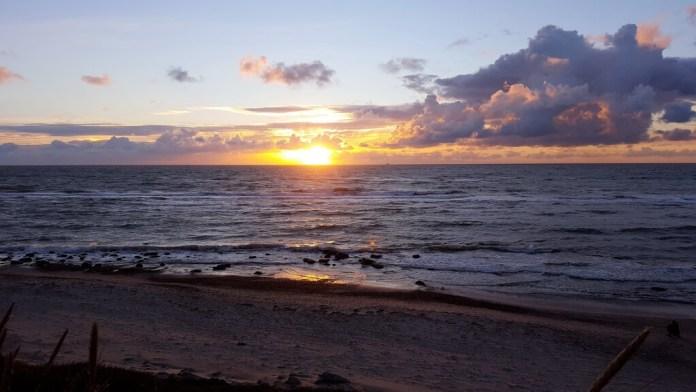 Sonnenuntergang Hirtshals