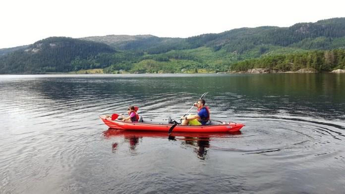 paddeln Camping Neset