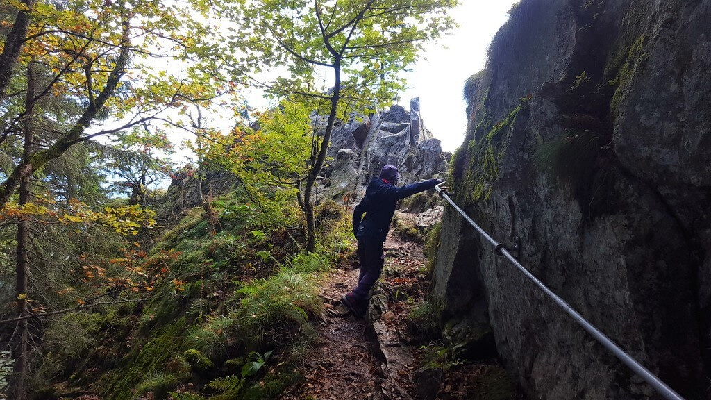 Klettersteig Vogesen : Sentier des roches: unterwegs mit kind auf dem berühmten felsenpfad!