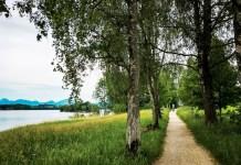 Kleine Staffelsee Schleife Rundweg mit Kindern